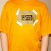 TEEN-BEAT, tee-shirt with metallic gold ink